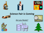 Science Fair is Coming - Nova Scotia Department of Education