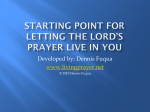 Starting Point for letting the Lord's Prayer Live in You