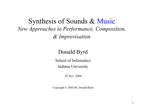 Representation of Musical Information