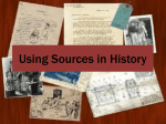 Using Sources in History