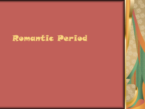 Romantic Period Power Point