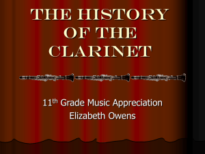 a history of the clarinet