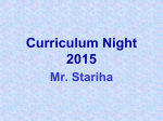 Curriculum Night 2015 - Community Unit School District 200