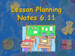 Lesson Planning Notes 6.11 Title of Activity