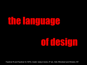 the Language of Design - Architecture, Design and Planning