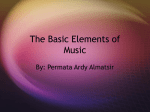The Basic Elements of Music