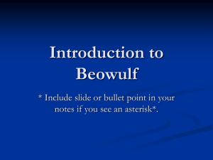 Beowulf Introduction Notes