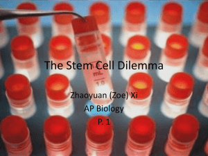 Stem Cells - California Science Teacher