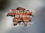 NYSED Part D Lab Review - Frontier Central School District