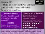 Cell Analogy 78% Wed/Thur 67& Fri