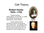 Cell Theory - TeacherWeb