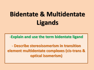 Bidentate & multidentate ligands File