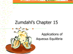 Zumdahl's Chapter 15 - University of Texas at Dallas
