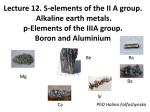 12.S-elements of the ІІ А group.Alkaline earth metals.р