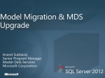 Model Migration & Application Upgrade - TechNet Gallery