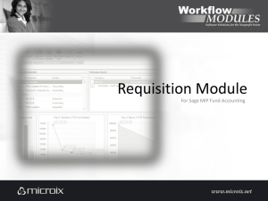 Requisition Module