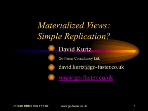 Materialized Views: Simple Replication? - Go