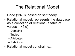 Relational Model - University of Hawaii