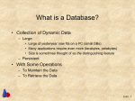 What is a Database? - Brigham Young University