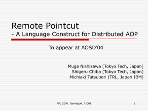 Remote Pointcut - A Language Construct for Distributed AOP