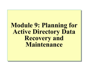 Module 8: Examining Active Directory Replication
