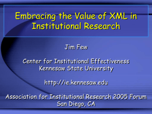 AIR 2004 Presentation - Kennesaw State University