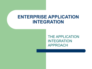INFORMATION-ORIENTED APPLICATION INTEGRATION