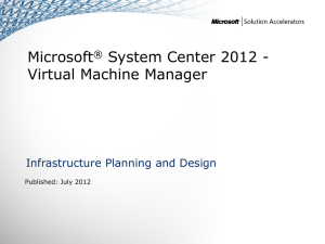 IPD - System Center 2012 - Virtual Machine Manager