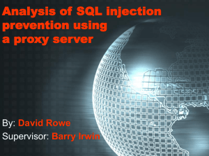 Analysis of SQL injection prevention using a proxy server