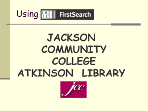Using OCLC FirstSearch