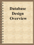 Database Overview - Academic Csuohio