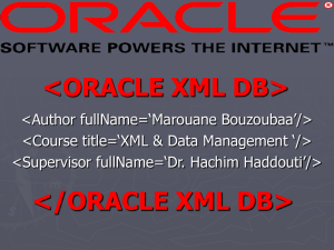 oracle xml db