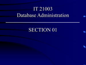 IST 274 -10 Database Administrator