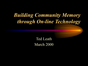 Building Community Memory through On-line
