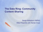 The Data Ring: Community Content Sharing