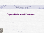 Object-Relational Features - Department of Computer and