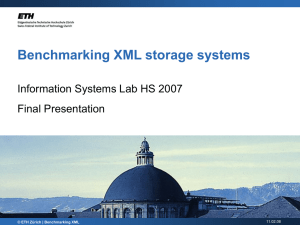 Benchmarking XML storage systems - Index of