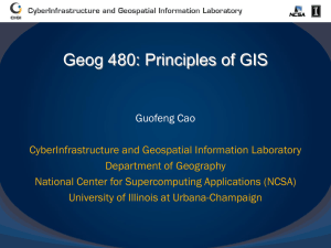 database - CyberInfrastructure and Geospatial Information Laboratory