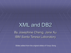 XML and DB2