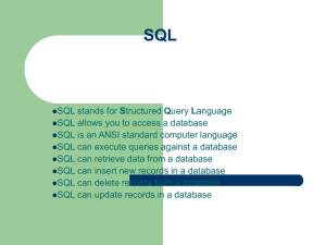 SQL - Department of Computer Science