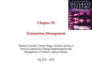 Chapter 15 Transaction Management