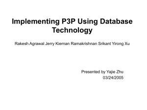 Implementing P3P Using Database Technology Rakesh Agrawal