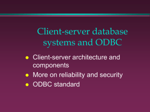 Client-server database systems and ODBC