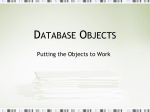 Database Objects Vocabulary and Note Powerpoint