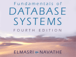 Elmasri/Navathe, Fundamentals of Database Systems, Fourth