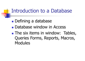 Access Databases