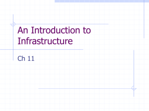 An Introduction to Infrastructure