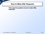 How to Make SQL Requests