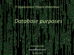 Purposes of databases - VCE IT Lecture Notes by Mark Kelly