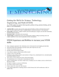 Getting the Skills for Science, Technology, Engineering, and Math (STEM)